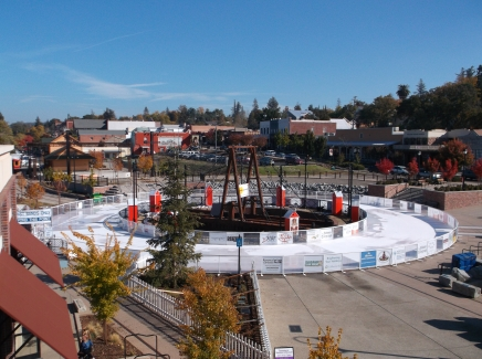 The holiday skating rink in Folsom