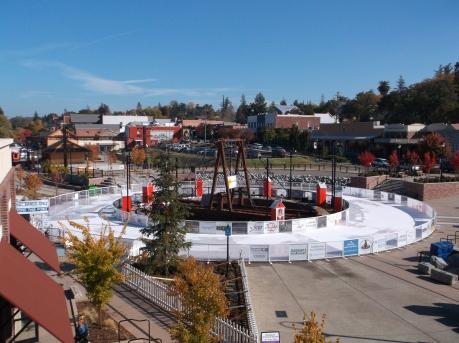 The holiday skating rink in Folsom