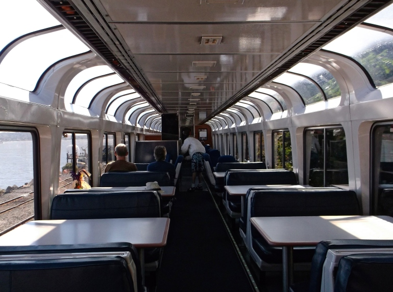 The California Zephyr's observation car is full of windows!