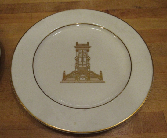 The official Stanford Mansion china, used at protocol events