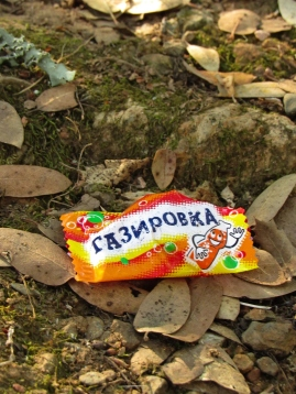 Ukranian candy wrapper