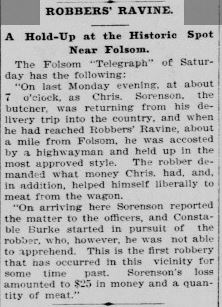 Robber's Ravine News Story