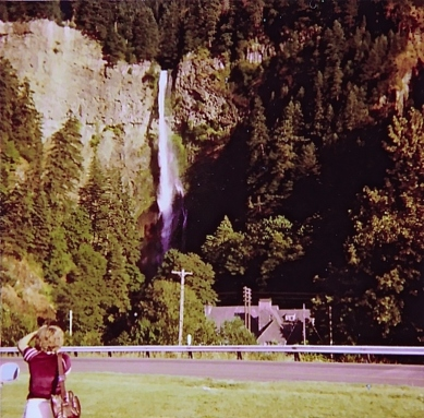 At Multnomah Falls