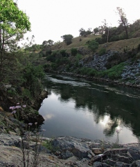Looking upstream towards Folsom Dam