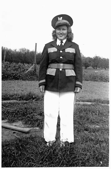 Mom in her high school band uniform