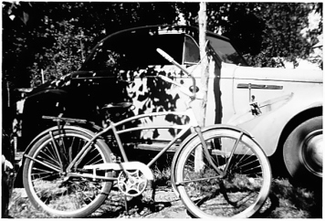 """Dad's bike; the name """"Pancho"""" is painted on the top tube"""