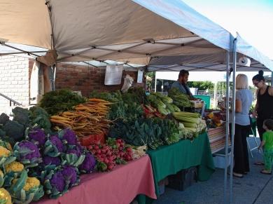 Plenty of veggies at the Farmers Market