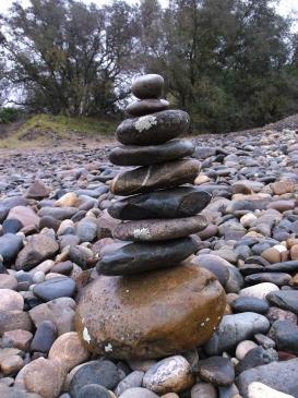 Stack of rocks, Mississippi Bar