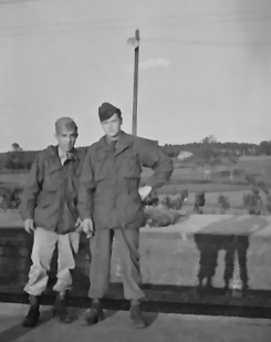Dad on the left -- love the background shadow!
