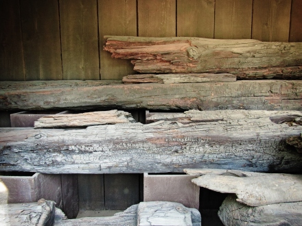 Original timber from Sutter's mill in Coloma