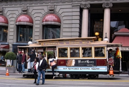 Cable cars are iconic and always crowded