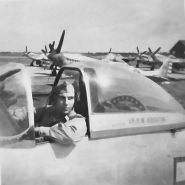 Lt P.W. Houghton in his plane