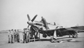 Prop damage to a P-51
