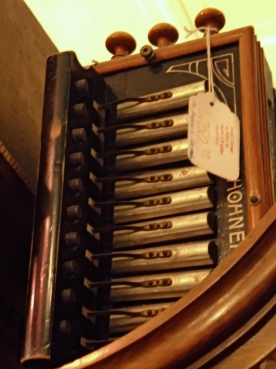 Hohner accordian closeup