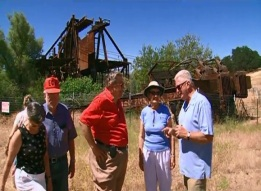 Visiting the old dredger site