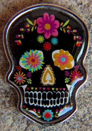 Spooky Skull Charm, front...