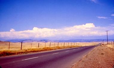 Hiway between Modesto and Yosemite